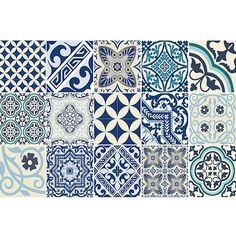 Keep homes clean and mess free with this Eclectic floor mat from Beija Flor. Made from durable vinyl which does not curl or move, this practical household item protects floors or carpet from spills, m Vinyl Floor Mat, Vinyl Flooring, Floor Mats, Vinyl Rug, Vinyl Tiles, Eclectic Quilts, Eclectic Tile, Grafic Design, Antique Tiles