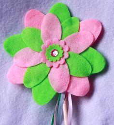 Beautiful Fairy Wand, Magic Wand, Princess Wand, ribbons, pretend play, felt flower wand