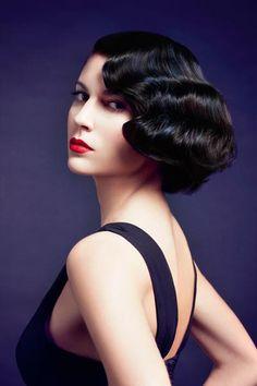 Short retro hairstyle 2014