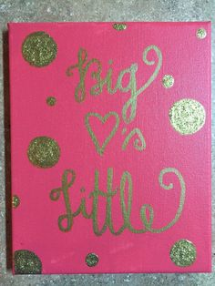 Big 3's Little Sorority Canvas Painting by SoDarlingCrafts on Etsy