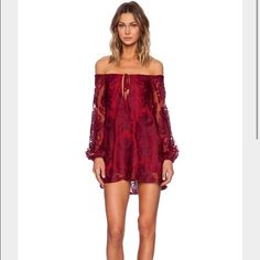 For Love & Lemons - Sangria Dress Sangria Dress by For Love & Lemons. Size Large. Worn 1 time for a couple of hours (pictured) so basically brand new. Fully lined. Make me an offer! For Love and Lemons Dresses Mini