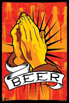 Praying Hands | Classic | Replica | #twist #classic #art Pray for Beer | poster, wall decor, decoration, party gift