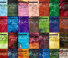 P22 Cezanne font featured on Folger Shakepeare Library series from Simon & Schuster