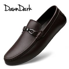 Men Genuine Leather Casual Shoes Summer Male Shoes Fashion Flats Round Toe Loafers Slip on Man Driving Sneakers Brand Gents Fashion, Mens Fashion Shoes, Fashion Flats, Casual Sneakers, Casual Shoes, Shoes Style, Loafer Shoes, Loafers Men, Comfortable Mens Dress Shoes