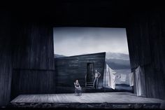 Susannah. San Francisco Opera. Scenic design and projections by Erhard Rom. Lighting by Gary Marder.