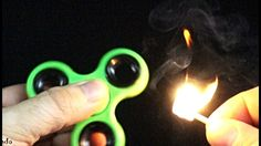 How to light a Match with Fidget Spinner. Simple Fire Trick and Cool Exp...