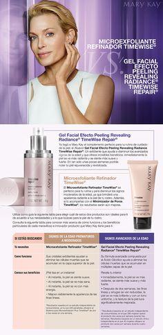 Microexfoliante Refinador TimeWise®  vs. Gel Facial Efecto Peeling Revealing Radiance® TimeWise Repair®