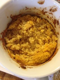 Coconut Pumpkin Muffin in a Mug (S) a healthy, protein rich snack or breakfast!!