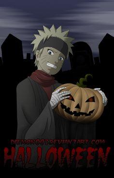 Znalezione obrazy dla zapytania halloween naruto