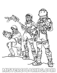 Fortnite Coloring Pages (With images) | Cartoon coloring ...
