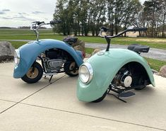 This Guy Took Apart An Original VW Beetle And Created These Adorable Motorcycles