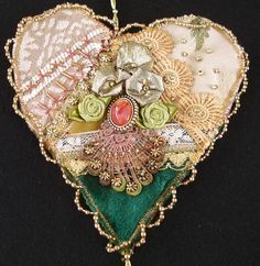 I ❤ crazy quilting & ribbon embroidery . . . CQ Hearts ~By Judy's Fabrications