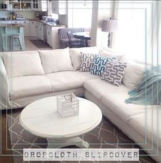 Make Chair Slipcovers out of Curtain Panels