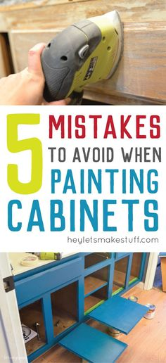 Remodeling Kitchen Cabinets Avoid these mistakes when painting cabinets and you'll paint your cabinets right the first time! - Avoid these mistakes when painting cabinets and you'll paint your cabinets right the first time! New Kitchen Cabinets, Painting Kitchen Cabinets, Kitchen Paint, Kitchen Redo, Kitchen Remodel, Kitchen Ideas, Painting Cabinet Doors, Reface Cabinets, Repainting Cabinets