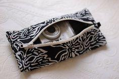 Compact Digital Camera bag Padded Travel caseNeck wallet Canon Nikon Fuji camera pouch Cross stitch project purse Photographer…