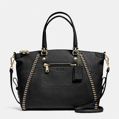 COACH Designer Handbags | Prairie Satchel In Whiplash Leather