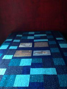 Quilt azul entregada