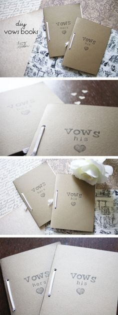 Turn your vows into keepsakes with these DIY vows books from Living YOUR Creative!