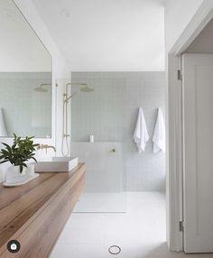 Bathroom Design Inspiration, Bathroom Inspo, Bathroom Interior Design, Bathroom Ideas, Guest Bathrooms, Bathroom Renos, Master Bathroom, Concrete Look Tile, White Concrete