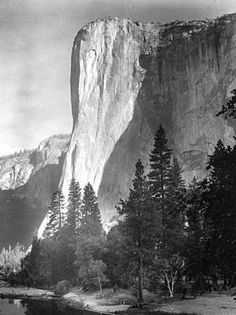 Morning sunlight on eastern wall of El Capitan, Yosemite
