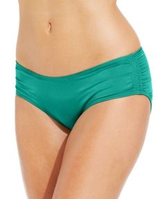 Coco Reef Ruched Hipster Bikini Bottoms - Green XL