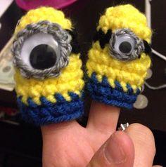 Minion finger puppet by HookDeeDoo on Etsy, $5.00