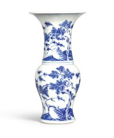 A BLUE AND WHITE 'THREE FRIENDS' VASE, QING DYNASTY, YONGZHENG PERIOD