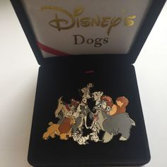 "This is a large colorful pin. Sold in a velvet covered box with title on the inside ""Disney's Dogs"". Disney Parks, Disney Souvenirs, Disney Dogs, Walt Disney World, Disney Pins Sets, Disney Trading Pins, Disney World Shirts, Disney World Magic Kingdom, Lego Disney"