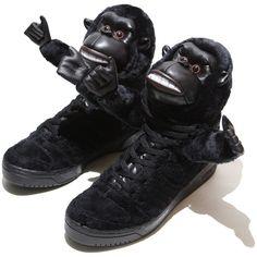 the best attitude 83678 31403 Jeremy Scott Gorilla Womens Adidas Originals Black similarly to animals  design elements, can say that