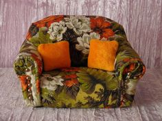 "magpae:  AllforDoll OOAK DIORAMA 1:4 & 1:6 scale Furniture SOFA Pillows for 12-16"" Dolls"