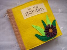 Quiet Book/Sensory Book of Touch and Feel In The Garden made from Felt on Etsy, $24.00