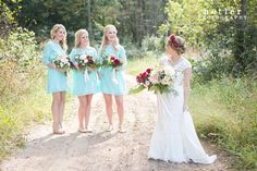 If we can't decide, and you don't mind matching, these are a prime choice for me in mint green - Mint Blue Bridesmaid Dress Mint Bridesmaid by SandyWatersStore
