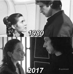 Uploaded by milena. Find images and videos about star wars, reylo and han solo on We Heart It - the app to get lost in what you love. Star Wars Meme, Star Wars Quotes, Star Trek, Han Solo Leia, Han And Leia, Star Wars Collection, Star Citizen, Anton, Amour Star Wars