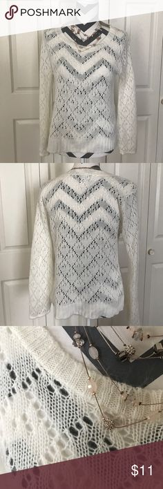 Light detailed sweater Only worn once... super cozy and soft national ny Sweaters Crew & Scoop Necks