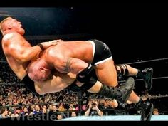 2016 Goldberg attack to Brock Lesnar on WWE RAW as a Super Human by Powerful Spear Full HD - YouTube