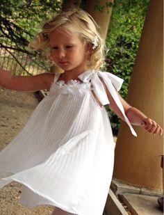 Flower Girl Inspiration. Dream Pleated Chiffon Girls Dress