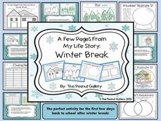 Why not get your lesson plans ready now for those first few days back from winter break? I always use this activity with my students because it allows them to ease back into school with a fun activity. They can tell me all about their break while still practicing reading and writing skills. They love it! $4.00