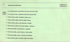 Educación Preescolar: 13 Fichas de atención al lenguaje