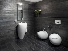 Badezimmer Fliesen Schiefer Interessant Naturschieferplatten Im Bad Mosaik  | Bäder | Pinterest