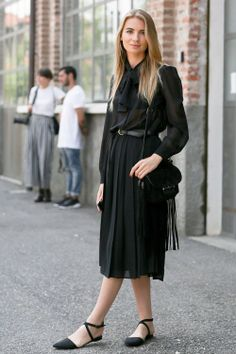 and then in black... #MariaKolosova in Milan.