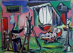 """Pablo Picasso - """"The Artist and His Model I, II"""". 1963"""