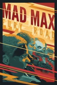 Mad Max, we had to wait a long time for this one, but what a thrill. I wanted to capture the thrilling carnage, speed and rage up close in this poster. Best Movie Posters, Film Posters, Retro Posters, Mad Max Fury Road, Mad Max Poster, Apocalyptic Movies, Film Poster Design, Alternative Movie Posters, Skull Art