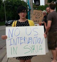 "Milwaukee says ""Hands off Syria!"""