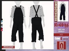 The sims lmgfi zara overalls kids Sims 4 Toddler Clothes, Sims 4 Mods Clothes, Sims 4 Cc Kids Clothing, Toddler Boy Outfits, Kids Outfits, The Sims 4 Bebes, Pelo Sims, Kids Overalls, Sims 4 Children