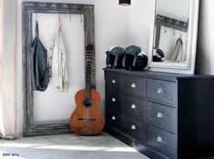 Meuble atelier graphite et cadre porte manteaux