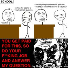funny memes about school | ... already know the answer…Visit this blog for more funny rage comics