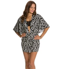Kenneth Cole Tribal Beat Kimono Shape Tunic