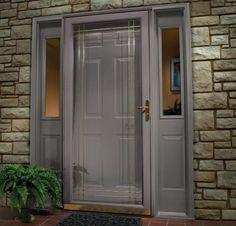 Image result for matching gray door and storm door