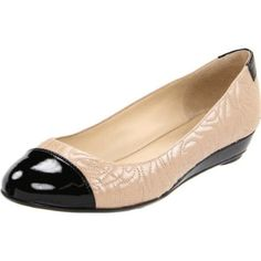 Current shoe obsession: two-tone patent leather flats.