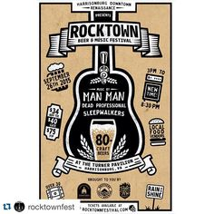 #Repost @rocktownfest with @repostapp.  Happy August! Happy Virginia Craft Beer Month! Today is a great day to purchase tickets for @downtownharrisonburg Sept 26th Fall Rocktown featuring #manman #deadprofessional and @sleepwalkersband  Get tickets at rocktownfestival.com @palefirebrewing and @broscraftbrew top a rock star #craftbeer lineup of over 30 national Virginia and local breweries and ciders Once you've purchased tickets stop by @broscraftbrew TODAY 3-5 pm for a free T-shirt give…